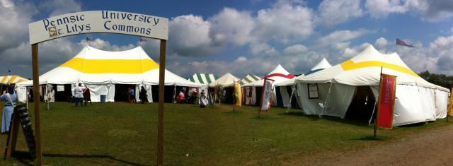 Pennsic University St. Lily Commons Panorama